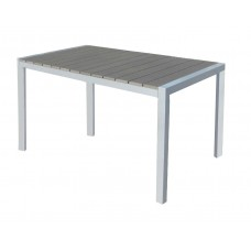 Τραπέζι Αλουμινίου Ξύλο Polywοod Ferrara Γκρι - Ασημί 140x80εκ ΑG2381-061 - Avant Garde