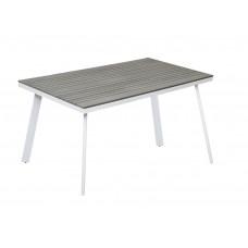 Τραπέζι Αλουμινίου Λευκό Γκρι Polywood Vicenza 150x82εκ ΑG02356-11 - Avant Garde