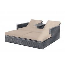 Καναπές - Ξαπλώστρα Αλουμίνιο Wicker Γκρι Genius Set 158x116x75υψ ΑG2253-009 Avant Garde