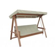 Κούνια - Κρεβάτι Τριθέσια Ξύλινη Εκρού Ύφασμα Rivers 235x117x179υψ ΑG1899-001 Avant Garde