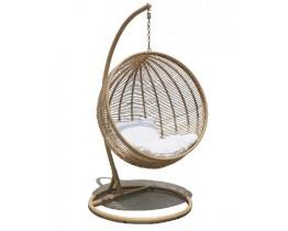Κούνια - Πολυθρόνα Κρεμαστή Αλουμίνιο Wicker Φυσικό Χρώμα Arden 110x115x190υψ ΑG3125-019 Avant Garde