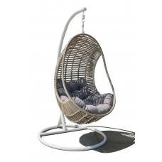 Κούνια - Πολυθρόνα Κρεμαστή Μεταλλική Wicker Blossom Steel 105x105x190υψ ΑG3125-020 Avant Garde