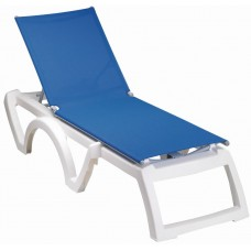 Ξαπλώστρα Πλαστική Textilene Jamaica Beach Grossfillex Λευκός Σκελετός 190x70x38υψ ΑG0007-152 Avant Garde
