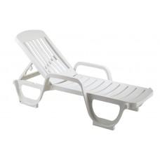 Ξαπλώστρα Πλαστική Λευκή Miami Grossfillex 190x67x28υψ ΑG0007-078 Avant Garde