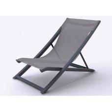Ξαπλώστρα - Σεζλονγκ Πλαστικό Και Αλουμίνιο Textilene Γκρι Sunset Chaise Longue Grossfillex 63x105x75υψ ΑG0007-229 Avant Garde