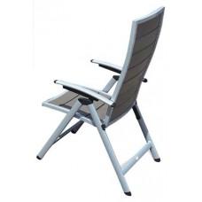 Πολυθρόνα Αλουμινίου Ρυθμιζόμενη Πλάτη Πτυσσόμενη Γκρι Ξύλο Polywood Ferrara 56x72x115υψ ΑG2381-136 Avant Garde