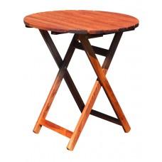 Τραπέζι Ξύλινο Φουρνιστή Οξιά Πτυσσόμενο Στρογγυλό Κερασί Φ70x72υψ ΑG2937-008 Avant Garde