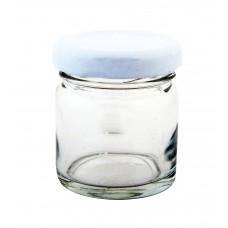 Βαζάκι Γυάλινο Μεταλλικό Καπάκι STD 000274 40ml 4x4x5υψ