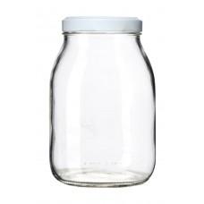 Βάζο Γυάλινο Μεταλλικό Καπάκι STD 000259 1062ml 10,5x10,5x16υψ