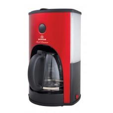 Καφετιερα HUMAN Red Passion 14 Φλυτζανια 950-1100w Hu-2006 - Κόκκινο Μεταλλικό