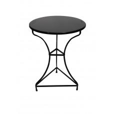 Tραπέζι Mεταλλικό Kαφενείου ΝΟ 18 OEM 00087 Φ60εκ - Μαύρο