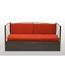 Καναπές Μεταλλικός 'Άνδρος' Συρόμενος Και Κρεβάτι 90x190εκ