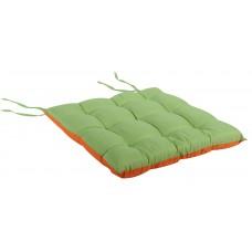 Μαξιλάρι Πόντα Τετράγωνο Δίχρωμο  Πορτοκαλί-Λαχανί 38x38x4εκ OEM ΚΖ7040-C6