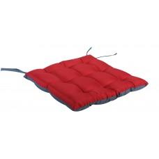 Μαξιλάρι Πόντα Τετράγωνο Δίχρωμο Κόκκινο-Γκρι 38x38x2,5εκ OEM ΚΖ7040-C8
