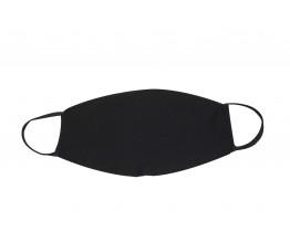 Μάσκα Προστασίας 2 Τεμάχια Υφασμάτινη 100% Βαμβάκι Μαύρη Πολλαπλών Χρήσεων 0097B