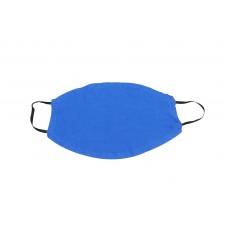 Μάσκα Προστασίας 2 Τεμάχια Υφασμάτινη 100% Βαμβάκι Μπλε Πολλαπλών Χρήσεων 0097M