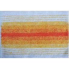 Πατάκι Μπάνιου Βαμβακερό Εκρου-Πορτοκαλί 45x65εκ ΣΑΜΟΣ 32-1010