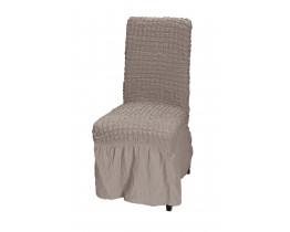 Κάλυμμα Καρέκλας Με Βολάν, Ελαστικό, Εκρού PANDORA 14-0105