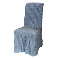 Κάλυμμα Καρέκλας Με Βολάν, Ελαστικό, Γκρι-Μπλε PANDORA 14-0105