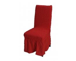Κάλυμμα Καρέκλας Με Βολάν, Ελαστικό, Κόκκινο PANDORA 14-0105