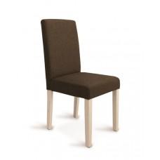 Καρέκλα Σαλονιού SUZANNA Σκούρο Καφέ Ύφασμα, Ανοιχτός Δρυς Τα Πόδια, 43x48x95υψ