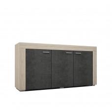 Μπουφές Sonoma-Cement Σκούρο Lagoon Liberta 157x41x82υψ 05-0174