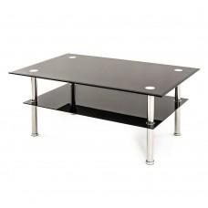 Τραπέζι Σαλονιού Μαύρο-Ασημί Class Liberta 110x60x42υψ 04-0100