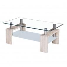 Τραπέζι Σαλονιού Sonoma Γυαλί-Mdf Duran Liberta 110x60x45υψ 04-0142