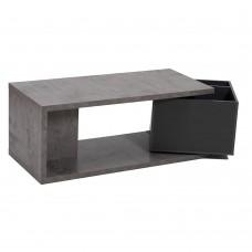 Τραπέζι Σαλονιού Cement-Γκρι Σκούρο Box Liberta 110x50x44υψ 04-0257