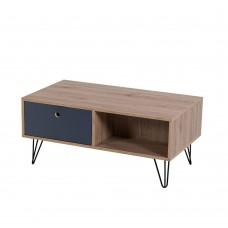 Τραπέζι Σαλονιού Sonoma-Γκρι Σκούρο Yolanda Liberta 90x50x40υψ 04-0258