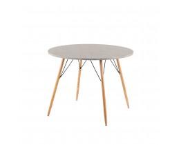 Τραπέζι Ξύλινο Στρογγυλό Cement Rock Liberta Φ100x75υψ 02-0277