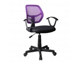Καρέκλα Γραφείου Μαύρο-Μωβ Stripes Liberta 55x53x80/92υψ 25-0234
