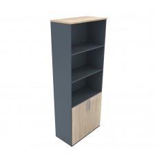 Βιβλιοθήκη Sonoma-Γκρι Σκούρο 2 Πόρτες Block 200 80x40x200εκ 24-0494