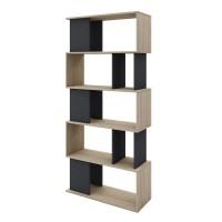 Βιβλιοθήκη Sonoma-Γκρι Σκούρο Lego Liberta 80x33x175υψ 24-0472