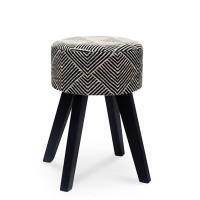 Σκαμπώ Safari Μαύρο-Λευκό Liberta Φ30x45υψ 16-0291