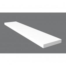 Ράφι Τοίχου Ξύλινο Λευκό Liberta 100x20x1,8υψ 32-0071