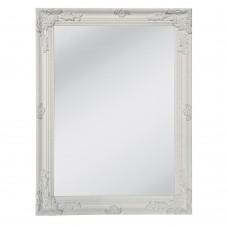 Καθρέφτης Τοίχου Ξύλινος Λευκό Αντικέ Romantic Liberta 60x3x80υψ 11-0103