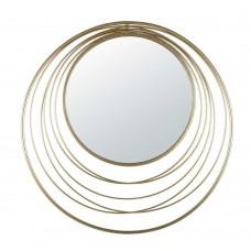 Καθρέφτης Τοίχου Μεταλλικός Χρυσό Eye Liberta Φ80εκ 11-0146