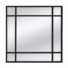 Καθρέφτης Τοίχου Μεταλλικός Μαύρο Rubik Liberta 60x3,5x60υψ 11-0147