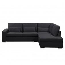 Καναπές Γωνία Δεξιά Divo Χρώμα Μαύρο 165-41 240x170x83υψ Liberta 01-2050