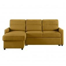 Καναπές - Κρεβάτι Γωνία Tucan Μουσταρδί 213x148x93υψ Liberta 01-2091