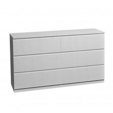 Κομότα Ξύλινη 6 Συρτάρια Λευκό Oak Sono 153x46x71υψ Liberta 09-1135