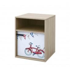 Κομοδίνο 1 Ντουλάπι Και Ράφι Sonoma Με Σχέδιο Bicycle Liberta  44,5x36x55υψ 09-1218