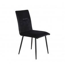 Καρέκλα Μαύρο Βελούδο Noir Liberta 44x59x89υψ 03-0632