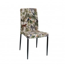 Καρέκλα Βελούδο Πολύχρωμο - Μαύρο Zuzu Liberta 44x53x92υψ 03-0679