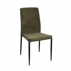 Καρέκλα Βελούδο Λαδί Zuzu Liberta 44x53x92υψ 03-0680
