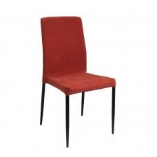 Καρέκλα Βελούδο Πορτοκαλί Zuzu Liberta 44x53x92υψ 03-0681