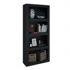 Βιβλιοθήκη Μαύρο Oak Noir Liberta 80x30x180υψ 24-0511