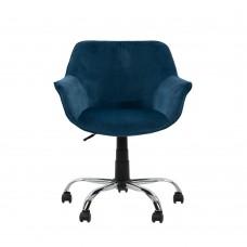 Καρέκλα Γραφείου Μπλε Βελούδο Forminx Liberta 65x65x77-86υψ 25-0496