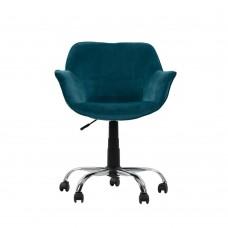 Καρέκλα Γραφείου Σμαραγδί Βελούδο Forminx Liberta 65x65x77-86υψ 25-0497